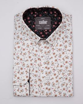 Picture of Fine Printed Smart Casual Shirt