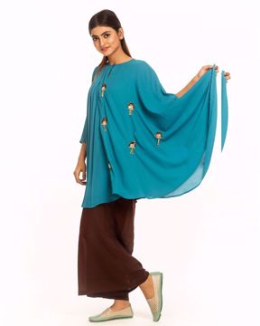 Picture of Asymmetric Poncho Top