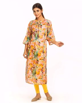 Picture of Cotton Floral Printed Kurtis