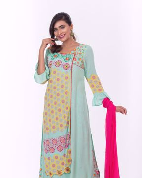 Picture of Womens Angrakha Style 3pcs