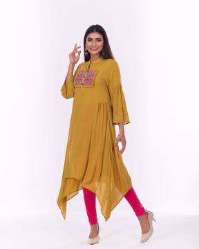 Picture of Ethnic Kurti with Yoke Embroidery