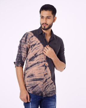 Picture of Tie-Dye Printed Casual Shirt