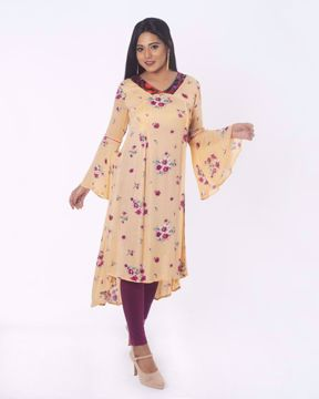 Picture of Up & Down Pattern Fusion Kurti