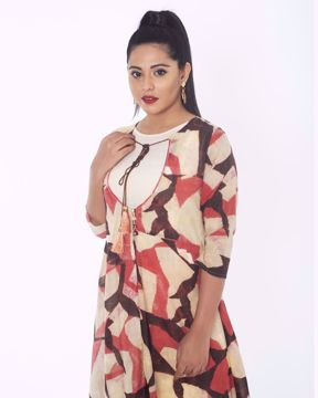 Picture of Double layered Fusion Kurti