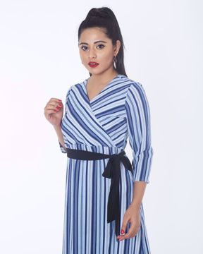 Picture of Wrap Pattern Fusion Top