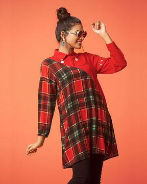 Picture of Plaid Printed Shirt Top