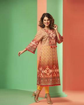 Picture of Luxury Cotton A-line Kurti