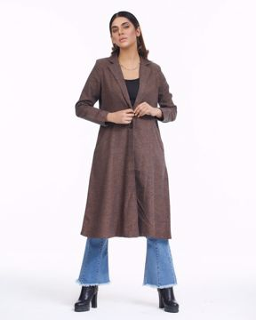 Picture of Womens Long Check Coat