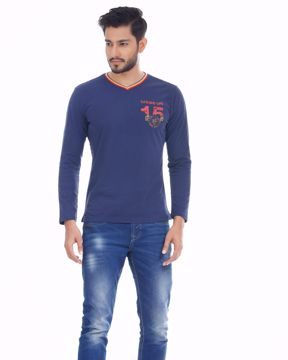 Picture of Mens Workwear Sailor Crew Long Sleeve T-Shirt