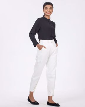Picture of Womens Wide Leg Tapered Jeans