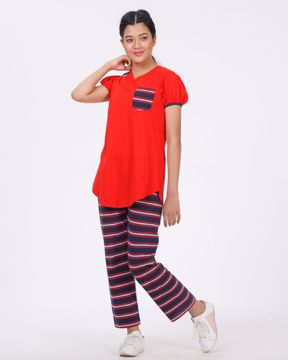 Picture of Womens Top Bottom Set Comfort Wear