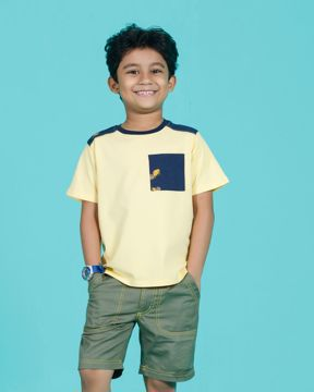 Picture of Boys Short Sleeved Car Print cut & sew T-Shirt
