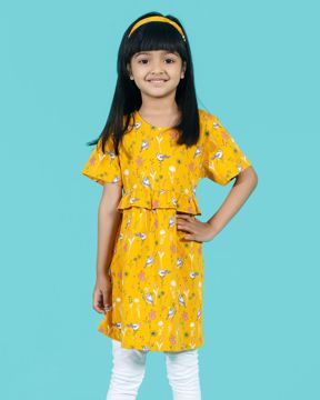 Picture of Floral Short Sleeve Knit Dress with Hairband
