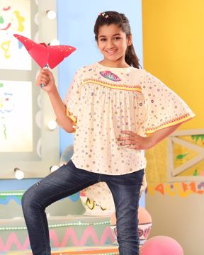 Picture of Girls Woven Kaftan (7-10 Years)