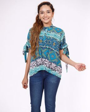 Picture of WOMENS WOVEN FASHION SHORT TOP