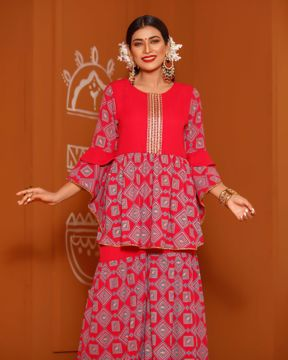 Picture of Womens Sharara Suit