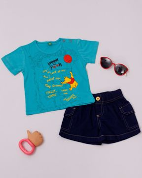 Picture of Newborn Boys Knit T-shirt With Pant (3-6 Months)