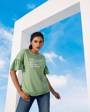 Picture of Womens Frill T-shirt