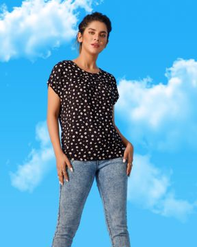 Picture of Womens Pleated Knit Top