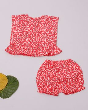Picture of Newborn Girls Kaftan Nima Frock With Pant (3-6 Months)