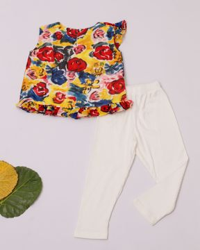 Picture of Newborn Girls Woven Top With Pant (3-6 Months)